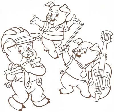 Riscos E Desenhos Os Três Porquinhos Para Colorir
