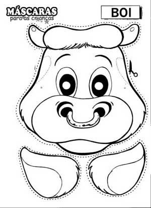 Molde Mascara Animais Boi  3