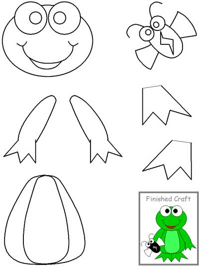 Frog Cut and Paste Crafts