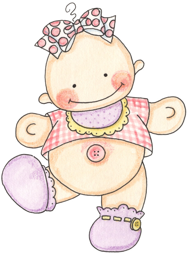 desenhos fofos de bebês para pintura em fraldas ou decoração de ...