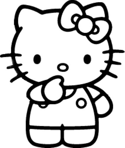 Moldes de Hello Kitty para imprimir - Imagui