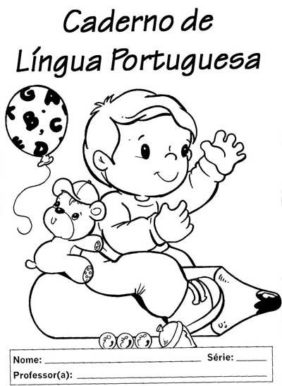 Modelo Capa Caderno Portugues Infantil Escola  6