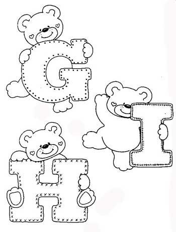 Alfabeto Do Ursinho Para A Decora    O  Para Fazer O Alfabeto  Voc