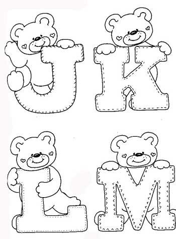 Ursinho Para A Decora    O  Para Fazer O Alfabeto  Voc   Pode Utilizar