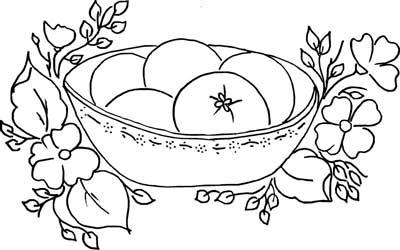 uma sugestao para pintura veja alguns riscos de flores e frutas para ...