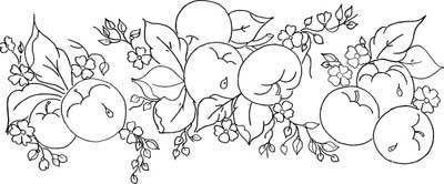 Riscos De Flores E Frutas Para Fazer Belas Pinturas Em Pano De Prato