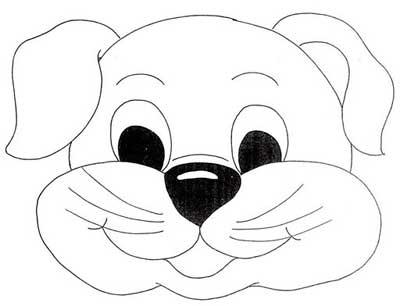 Riscos e Desenhos | Desenhos de Máscaras do Cachorrinho
