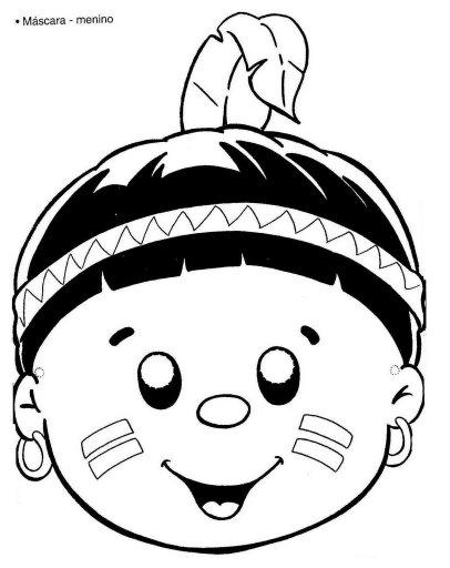 Mascara Do Indio Criancas  1