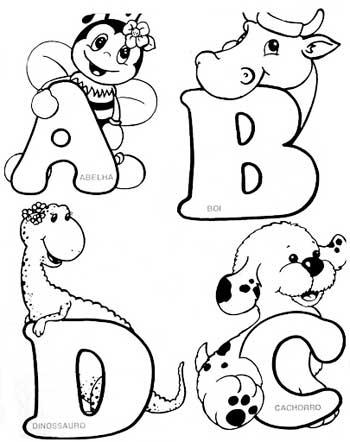Desenhos De Alfabeto   Agora    A Vez Dos Animais   Nesse Alfabeto