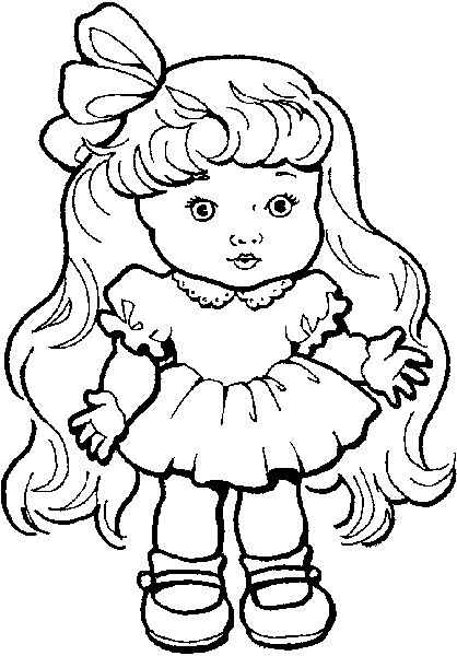 christmas doll coloring pages - photo#22