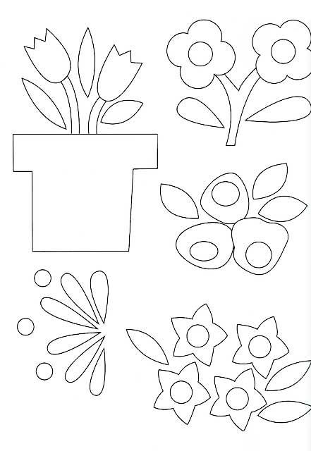 Veja alguns moldes de Flores para fazer lindos trabalhos em Patchwork