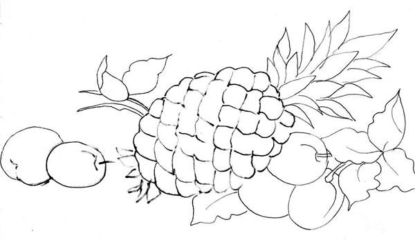 ... de desenhos de flores , frutas e galinhas para fazer lindas pinturas