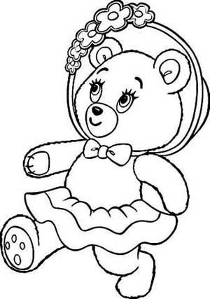 Olha que fofo esses desenhos de ursinho para fazer pintura em fraldas