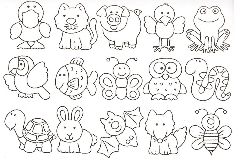 Molde's De Animales Para Imprimir