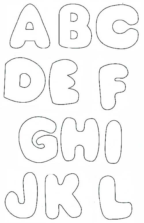 Molde de abecedario grande para imprimir - Imagui
