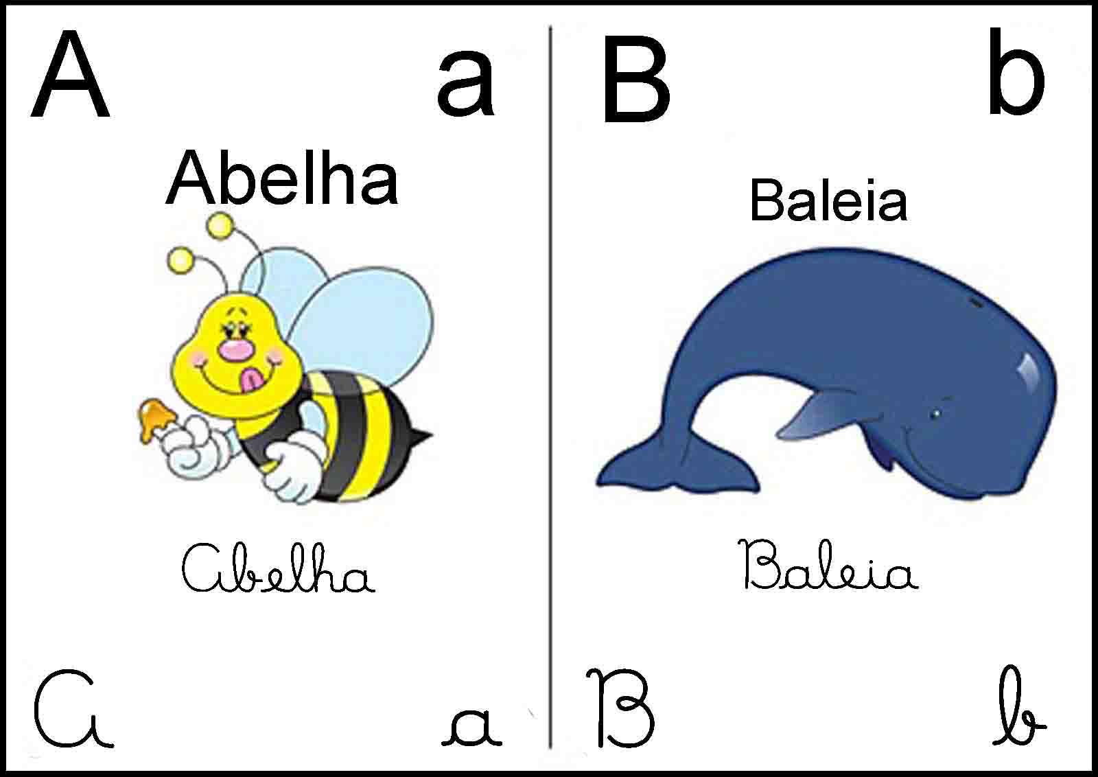 um modelo de alfabeto , agora um modelinho de alfabeto ilustrado para