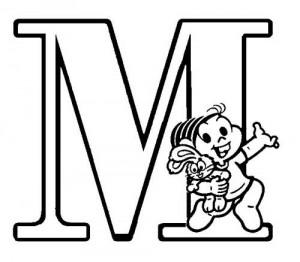 desenho molde alfabeto turma monica imprimir colorir painel escolar (13)