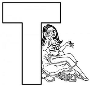 desenho molde alfabeto turma monica imprimir colorir painel escolar (20)