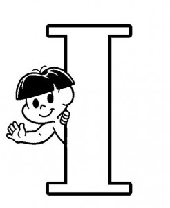 desenho molde alfabeto turma monica imprimir colorir painel escolar (9)