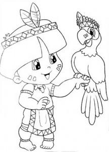 desenhos colorir dia do indio atividades escolares (2)