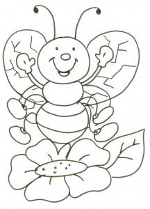 desenhos abelhas colorir  artesanato trabalhos escolares (1)