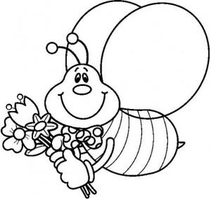 desenhos abelhas colorir  artesanato trabalhos escolares (3)