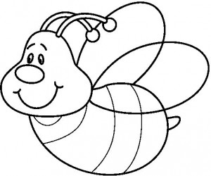 desenhos abelhas colorir  artesanato trabalhos escolares (4)