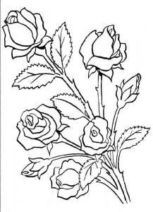 desenhos rosas pintura artesanato colorir (1)