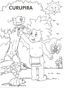 desenhos colorir folclore saci perere iara mula sem cabeca curupira bumba meu boi (2)