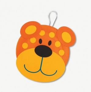 reciclagem arte escola criancas pratos descartaveis animais ursinho (4)