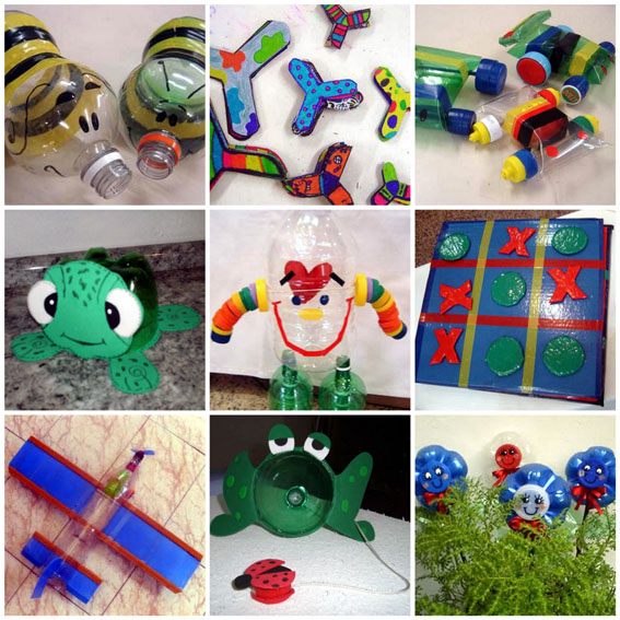 reciclagem brinquedos criancas garrafa pet embalagem plastica (4)