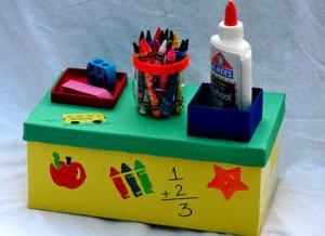 como organizar material escolar caixa organizadora porta treco latinha caixa sapato (1)