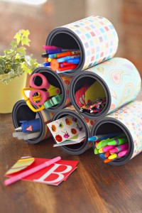 como organizar material escolar caixa organizadora porta treco latinha caixa sapato (3)