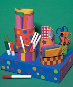 como organizar material escolar caixa organizadora porta treco latinha caixa sapato (4)