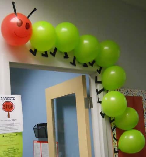decoracao sala de aula centopeia balao