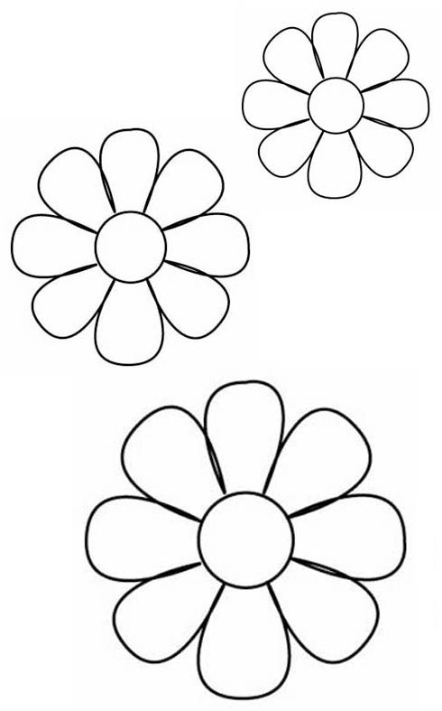 Riscos E Desenhos Moldes Flores Para Artesanato Com Feltro Ou Eva