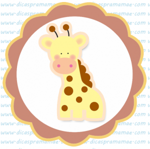 tag aniversario safari girafinha
