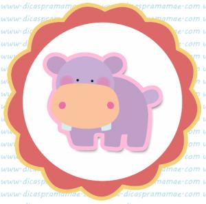 tag aniversario safari hipopotomo