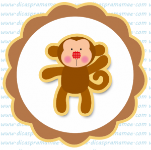 tag aniversario safari macaco