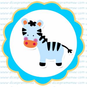 tag aniversario safari zebra