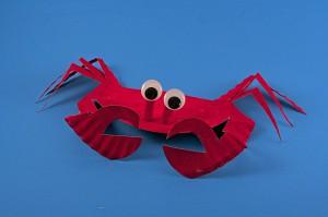 como fazer caranguejo prato descartavel atividade criancas escola (1)
