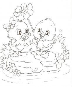 desenhos patinhos imprimir colorir atividades escola criancas (5)