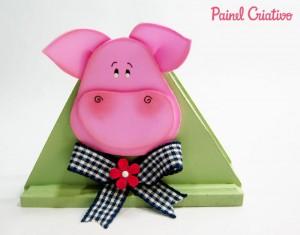 modelo porta guardanapo porquinho eva decoracao cozinha (4)