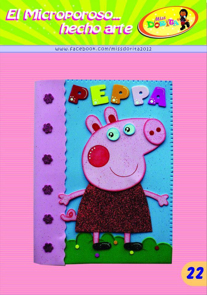molde pepa lembrancinha aniversario capa de caderno eva (1)