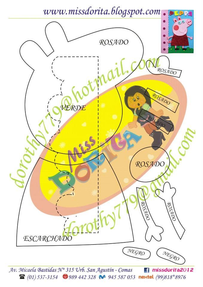 molde pepa lembrancinha aniversario capa de caderno eva (2)