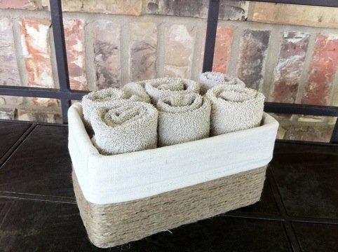 reciclagem caixa de sapato porta toalhas banheiro (5)