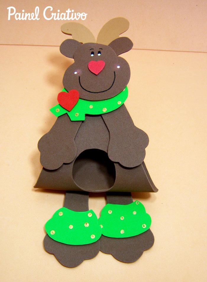 como fazer lembrancinha natal porta bombom papai noel rena eva criancas (3)