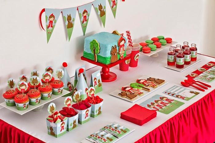 festa aniversario personalizada chapeuzinho vermelho crianca decoracao mesa (5)