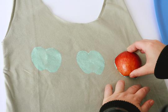 Como fazer Ecobag estampada  carimbo de frutas e legumes (9)
