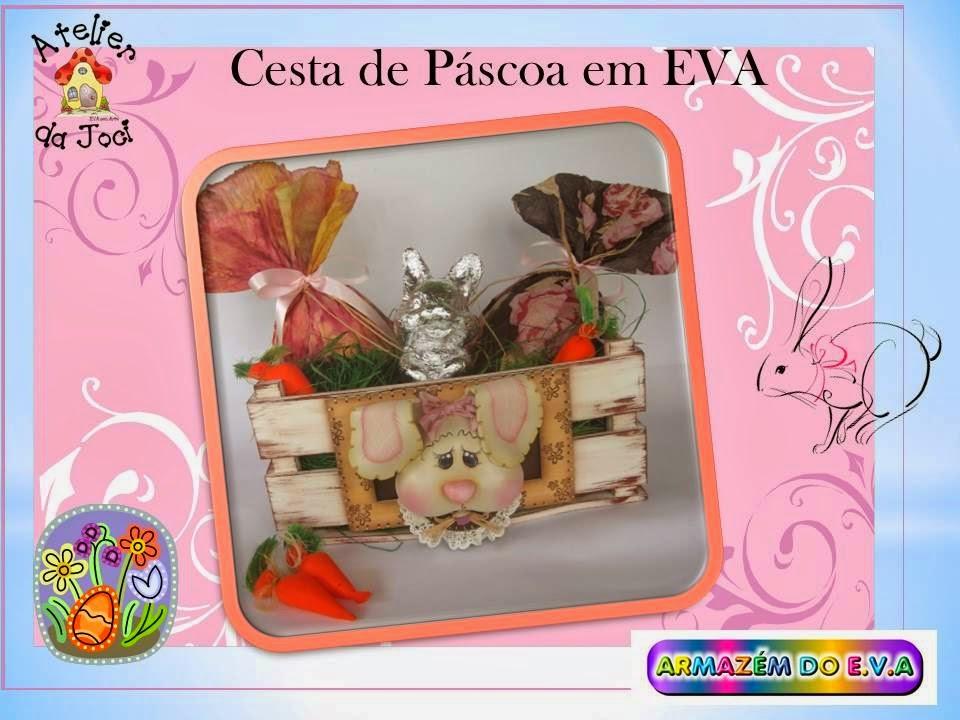 video como fazer cesta ovos pascoa coelhinho eva lembrancinha  (1)